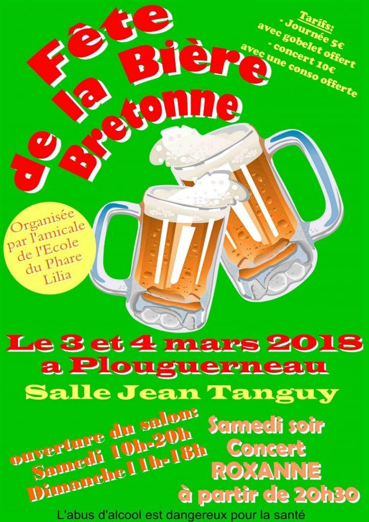 affiche fête de la bière Plouguerneau mars 2018